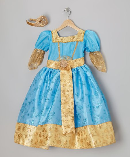 Turquoise & Gold Princess Dress-Up Set - Infant, Toddler & Girls