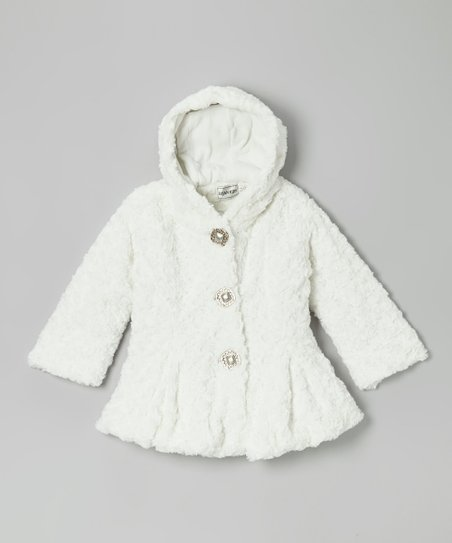 Off-White Faux Fur Jacket - Infant, Toddler & Girls