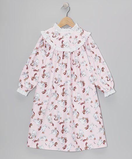 Pink Cat Nightgown - Toddler & Girls