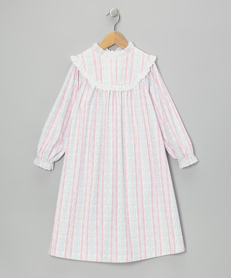 Light Pink Tyrolean Nightgown - Girls