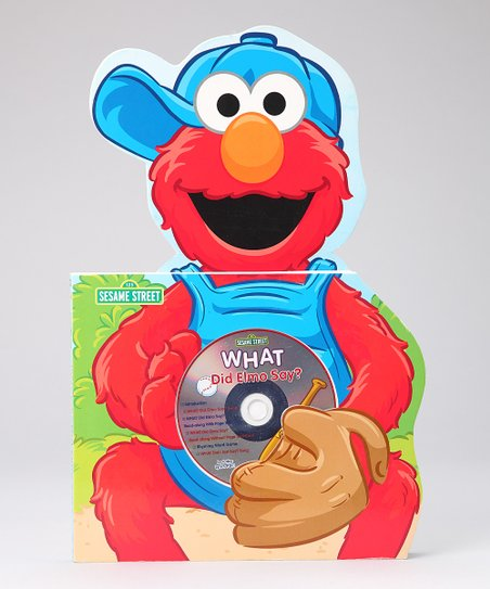 What Did Elmo Say? Board Book &amp; CD