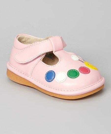 Light Pink Caterpillar Squeaker T-Strap Shoe
