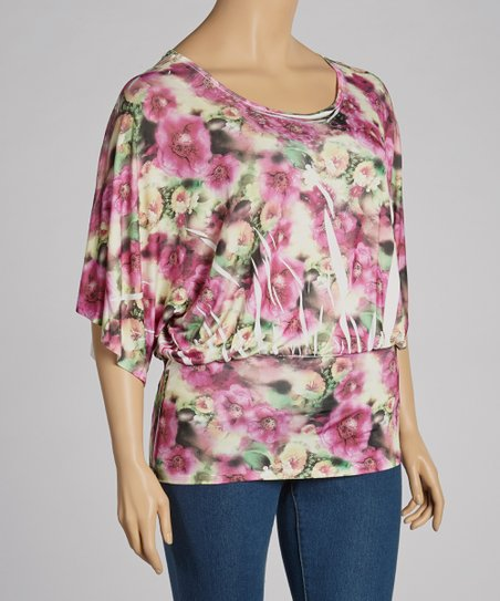 Pink Sublimation Dolman Top - Plus