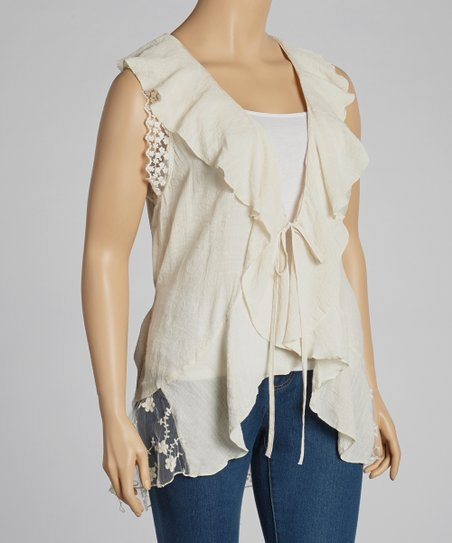 Ivory Ruffle Top - Plus