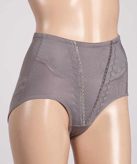 Gray Cloudburst Shaper Briefs - Women & Plus