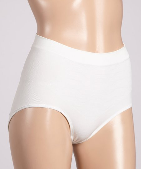 White Shaper Briefs - Women