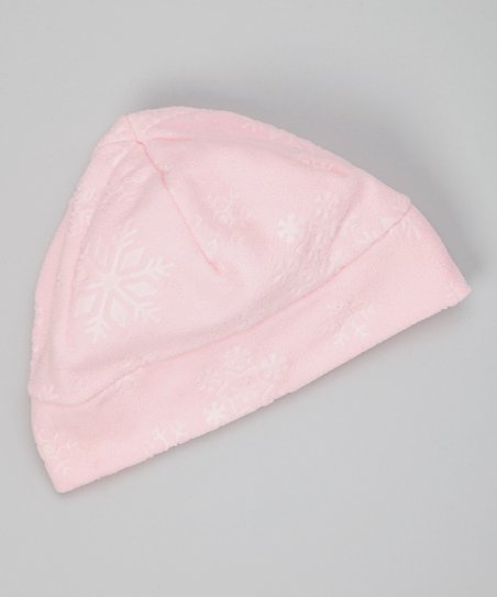 Pink Embossed Fleece Beanie