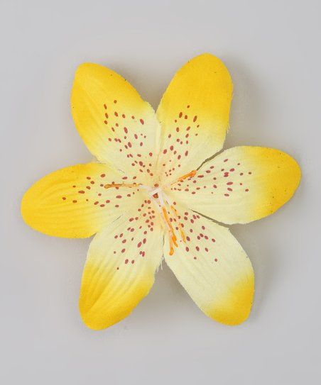 Yellow Tropical Iris Clip