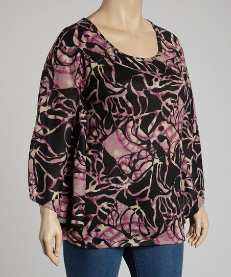 Purple & Black Hacci Top - Plus