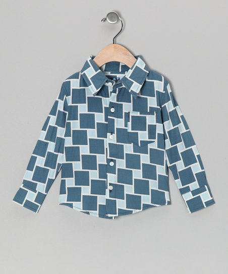 Twilight Lattice Button-Up - Infant, Toddler & Boys