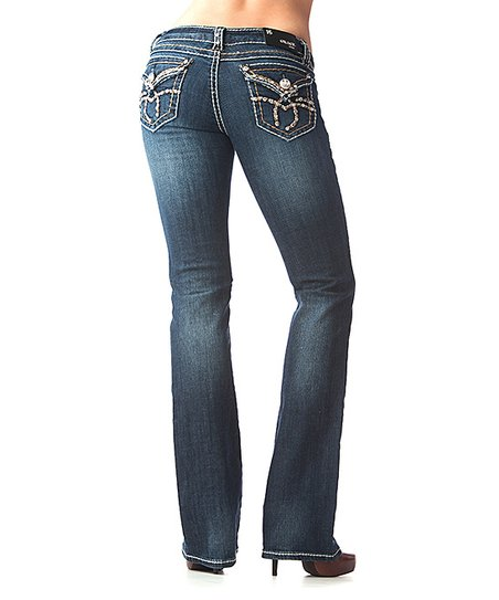 Medium Wash Sparkle Bootcut Jeans