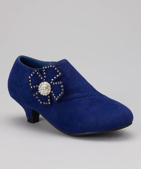 Blue Bow Holiday Bootie