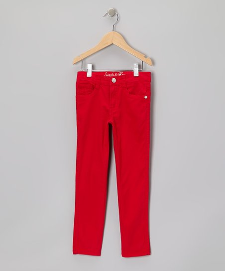 Crimson Straight-Leg Jeans - Girls