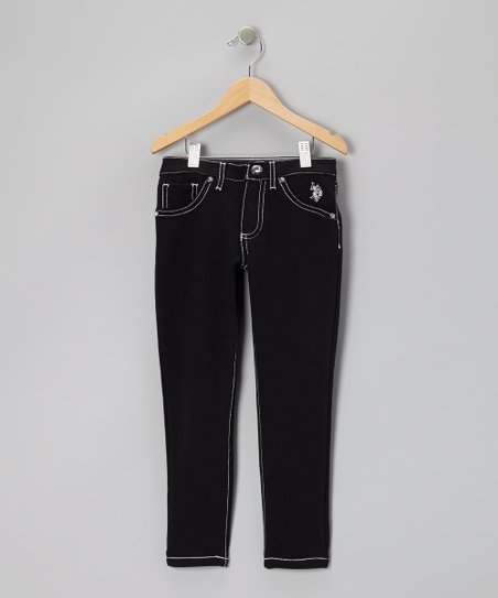 Black Straight-Leg Jeans - Girls