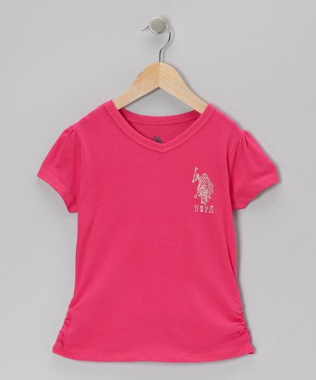 Berry V-Neck Tee - Girls