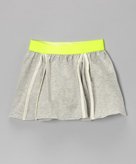 Heather Gray Swing Skirt - Girls