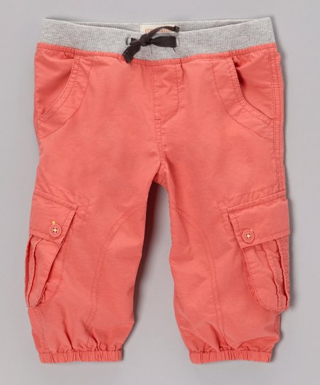 Coral Cargo Harem Pants - Toddler & Girls