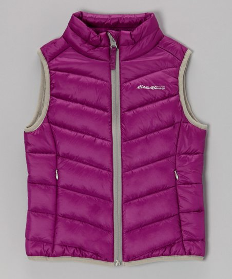 Purple Puffer Vest - Toddler & Girls
