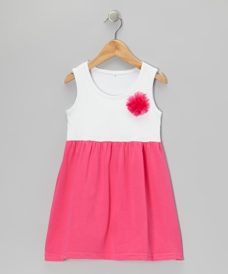 Hot Pink Pinwheel Dress - Infant, Toddler & Girls