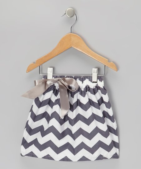 Gray Zigzag Skirt - Toddler & Girls