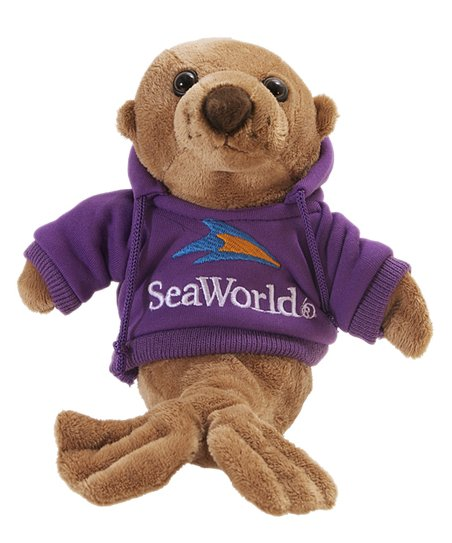 Purple Hoodie Sea Lion Plush Toy