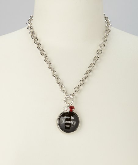 'Due in January' Charm Necklace