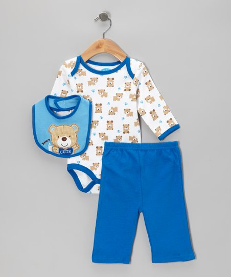 Blue Bears Bodysuit Set - Infant
