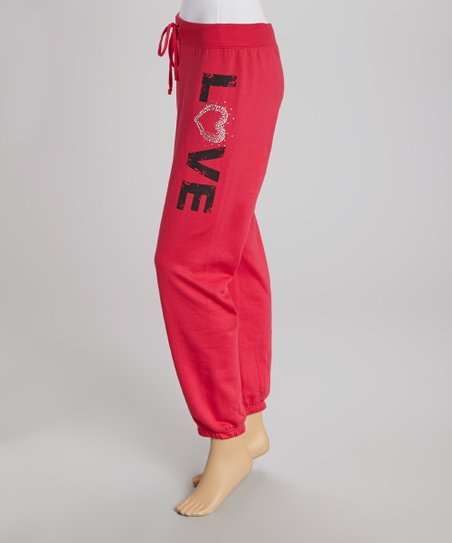 Red Apple 'Love' Sweatpants