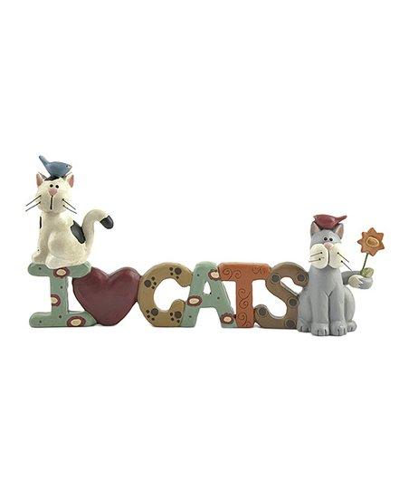 'I Love Cats' Block