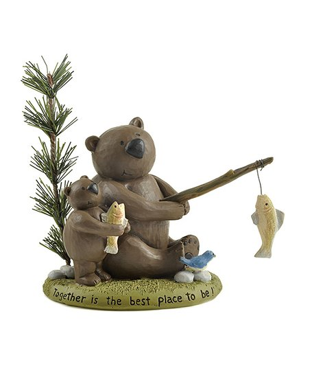 'Together' Fishing Bear Figurine