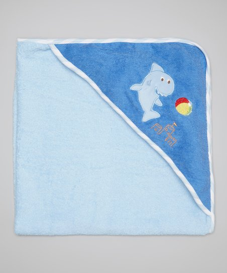 Blue Shark Terry Hooded Towel