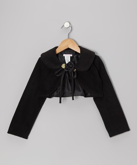 Black Rose Bolero - Toddler & Girls