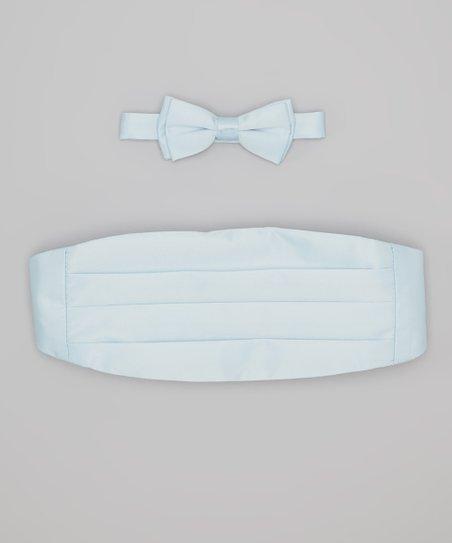 Baby Blue Cummerbund & Bow Tie - Infant