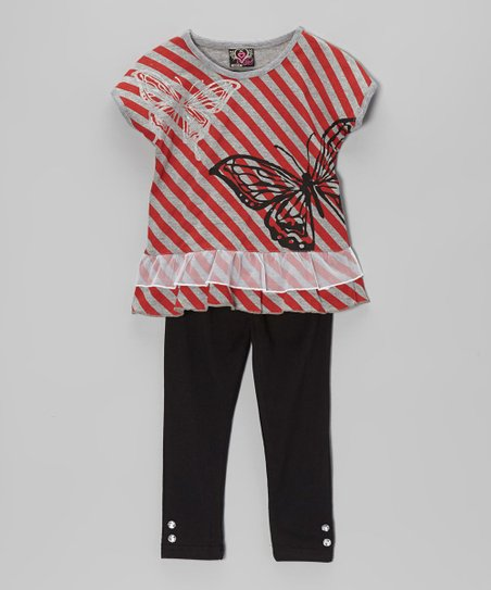 Red Stripe Tunic & Leggings – Infant, Toddler & Girls