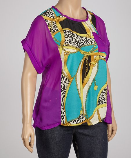 Purple Status Short-Sleeve Top - Plus