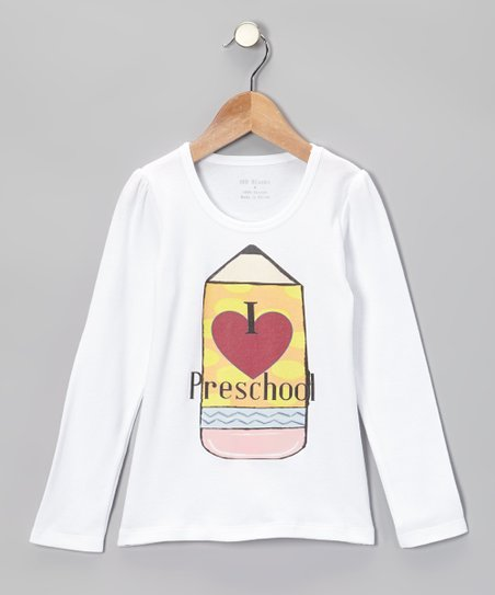 White 'I Love Preschool' Tee - Infant, Toddler & Kids
