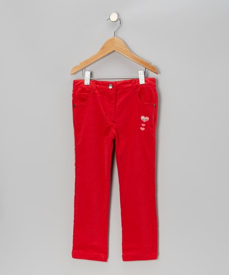 True Red Corduroy Pants - Toddler & Girls