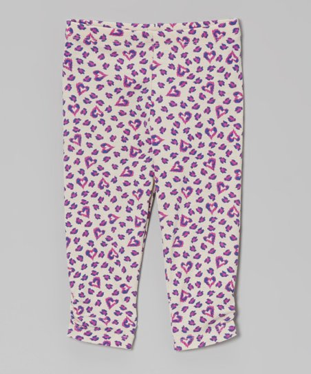 Fuchsia & Purple Leopard Heart Leggings - Infant, Toddler & Girls