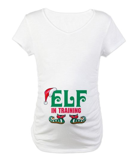 White 'Elf in Training' Maternity Tee - Women