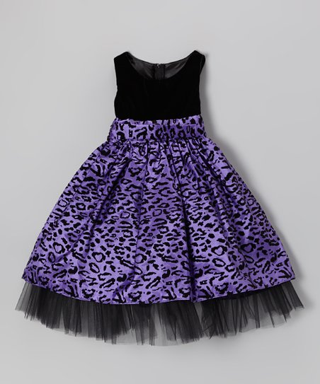 Purple Cheetah Dress - Girls