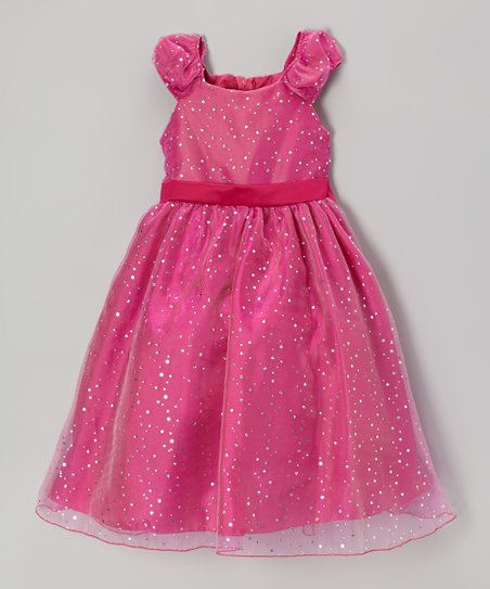 Fuchsia Sequin Dress - Girls