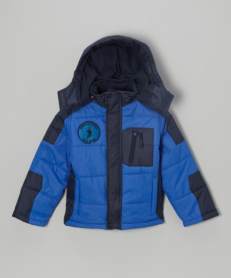 Cobalt Bubble Jacket - Boys