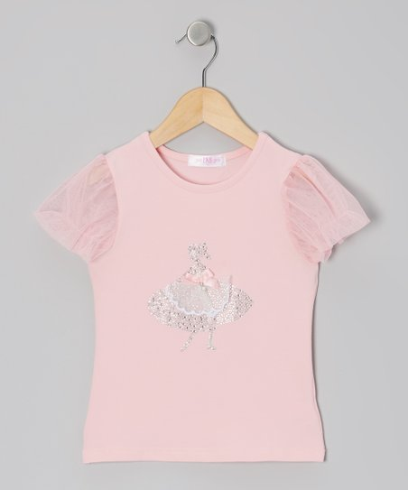 Pink Ballerina Puff-Sleeve Top - Infant, Toddler & Girls