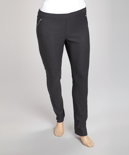 Gray Trouser Pants - Plus