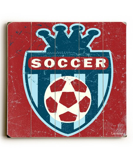 Artehouse &#039;Soccer&#039; Crest Wall Art