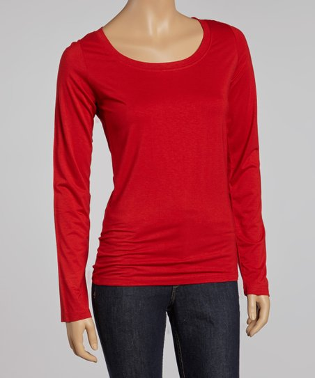 Garnet Scoop Neck Tee