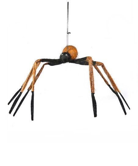 Orange Hanging Spider Figurine