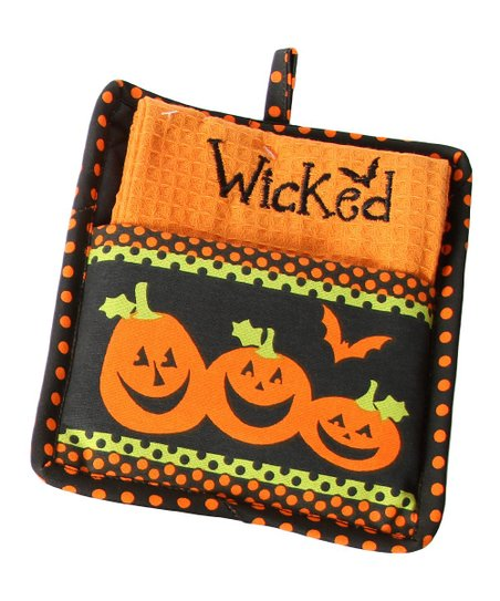 'Wicked' Pot Holder & Dish Towel