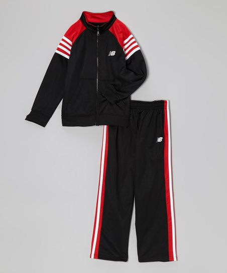 Black & Red Track Jacket & Pants - Infant, Toddler & Boys