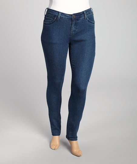 Medium Blue Classic Jeans - Plus